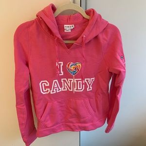 Dylan's Candy Bar Pink Hooded Sweatshirt Sz S